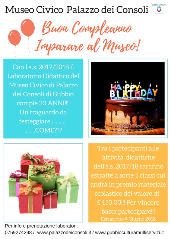 Buon CompleannoImparare al Museo!